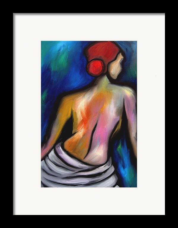 Pop Art Framed Print featuring the painting Paradise - Original Art Nude By Fidostudio by Tom Fedro - Fidostudio