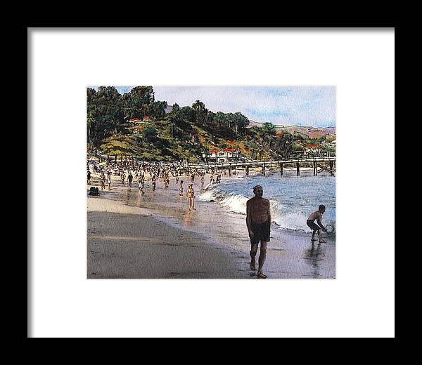 California Framed Print featuring the mixed media Paradise Cove by Randy Sprout