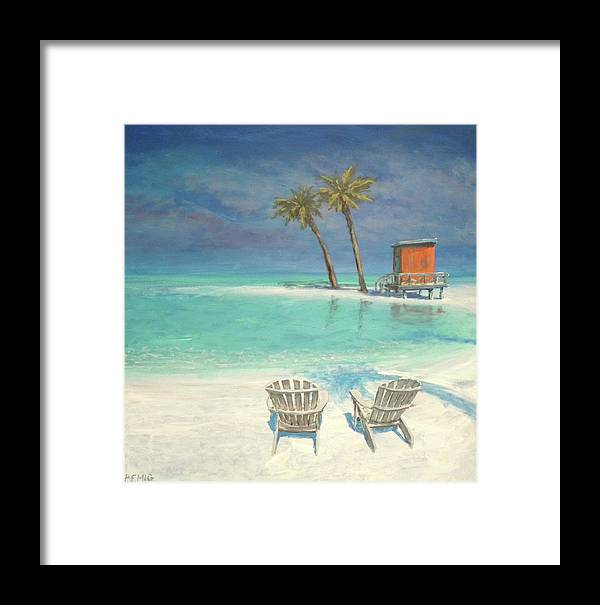 Beach Framed Print featuring the painting Paradise Dream by Paul Emig