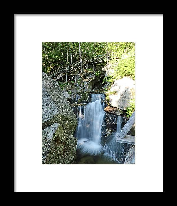 Paradise Framed Print featuring the photograph Paradise Falls by Steve Gass