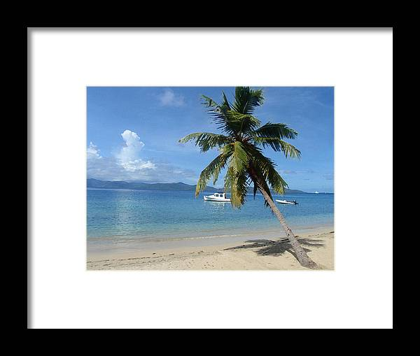 Caribbean Framed Print featuring the digital art Paradise by Ginger Howland