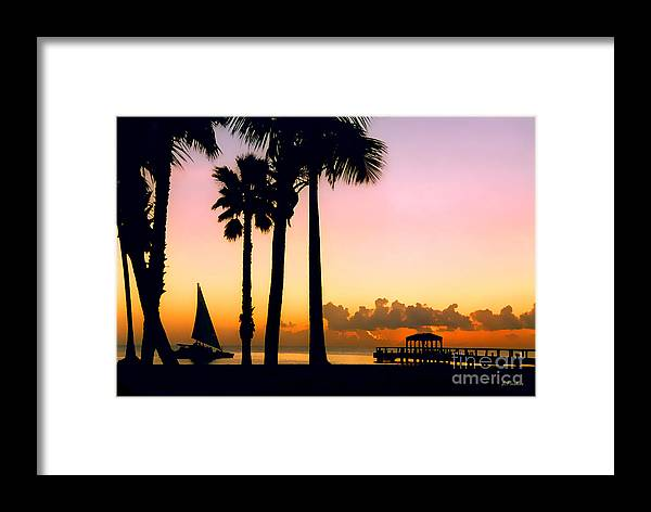 Impressionism Framed Print featuring the photograph Paradise In Nevis by Linda Parker