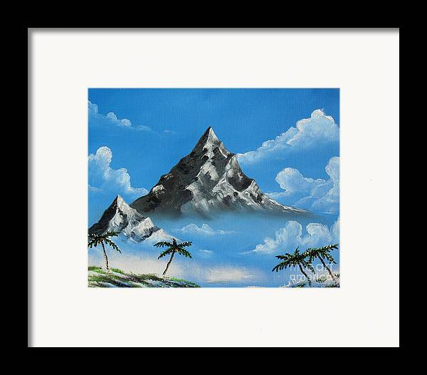 Landscape Framed Print featuring the painting Paradise Lost by Joseph Palotas