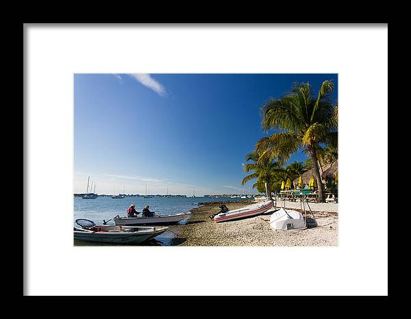 Marina Jacks Framed Print featuring the photograph Paradise by Michael Tesar