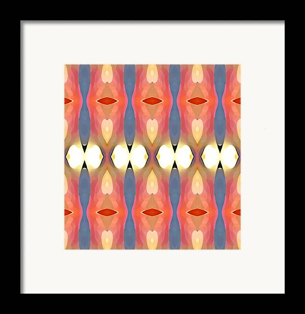 Abstract Art Framed Print featuring the painting Paradise Repeated by Amy Vangsgard