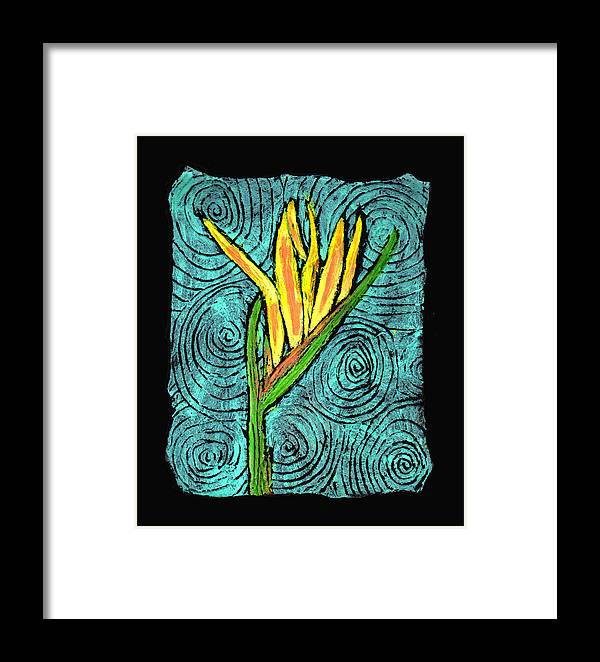 Flower Framed Print featuring the painting Paradise by Wayne Potrafka