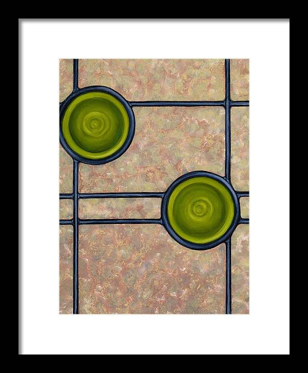 Circles Framed Print featuring the painting Paragon by Don Mullins