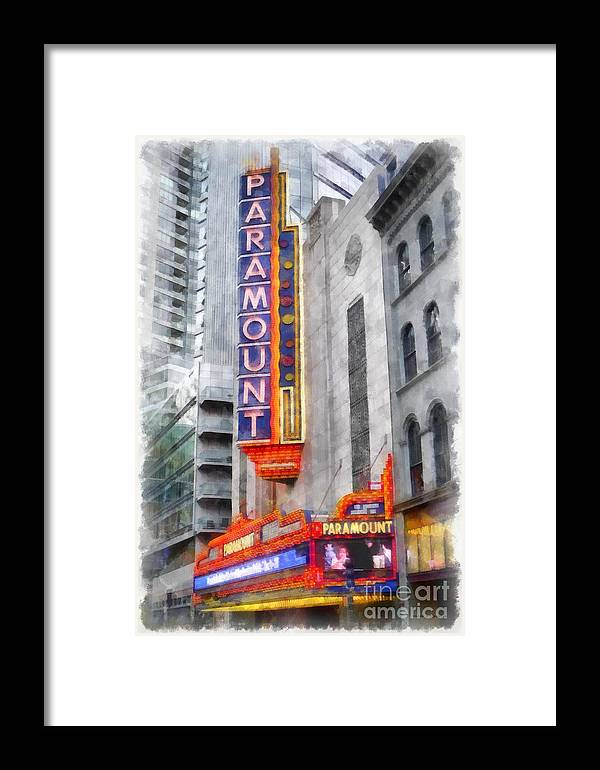 Paramount Framed Print featuring the painting Paramount Theater Boston Ma by Edward Fielding