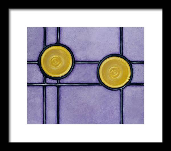 Circles Framed Print featuring the painting Paramour by Don Mullins