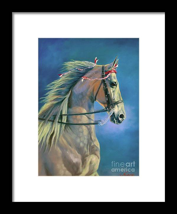 Horse Framed Print featuring the painting Paranormal by Jeanne Newton Schoborg