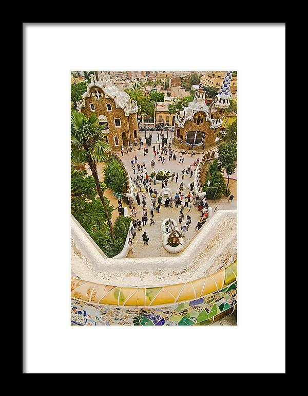 Parc Guell Framed Print featuring the photograph Parc Guell In Barcelona by Sven Brogren