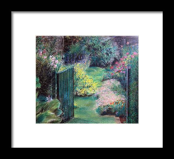 Landscape Framed Print featuring the painting Parc by Muriel Dolemieux
