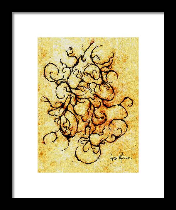 Squiggly Framed Print featuring the digital art Parchment by Nathaniel Hoffman