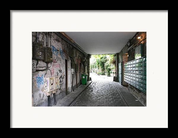 Framed Print featuring the photograph Paris - Alley 2 by Jennifer McDuffie