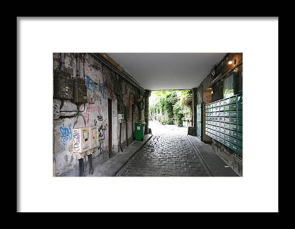 Framed Print featuring the photograph Paris - Alley 2 by Jennifer McDuffie