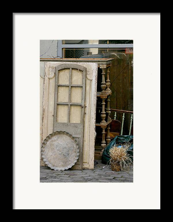 Framed Print featuring the photograph Paris - Alley by Jennifer McDuffie