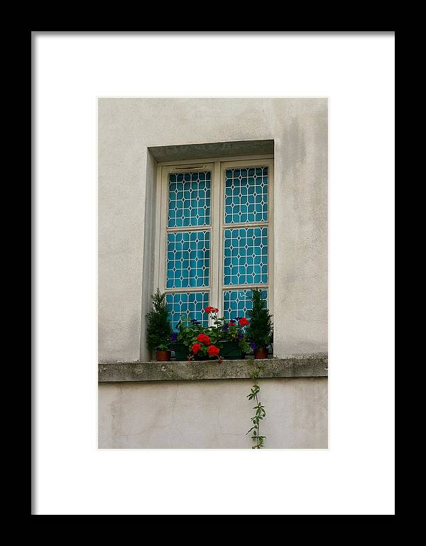 Framed Print featuring the photograph Paris - Window by Jennifer McDuffie