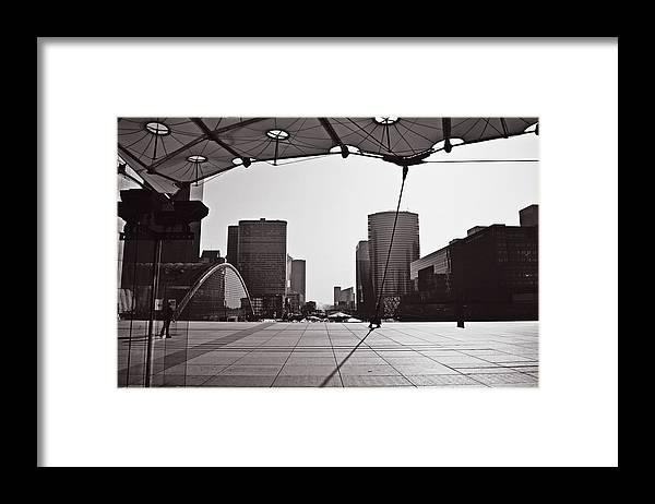 Paris Framed Print featuring the photograph Paris Defense by HazelPhoto