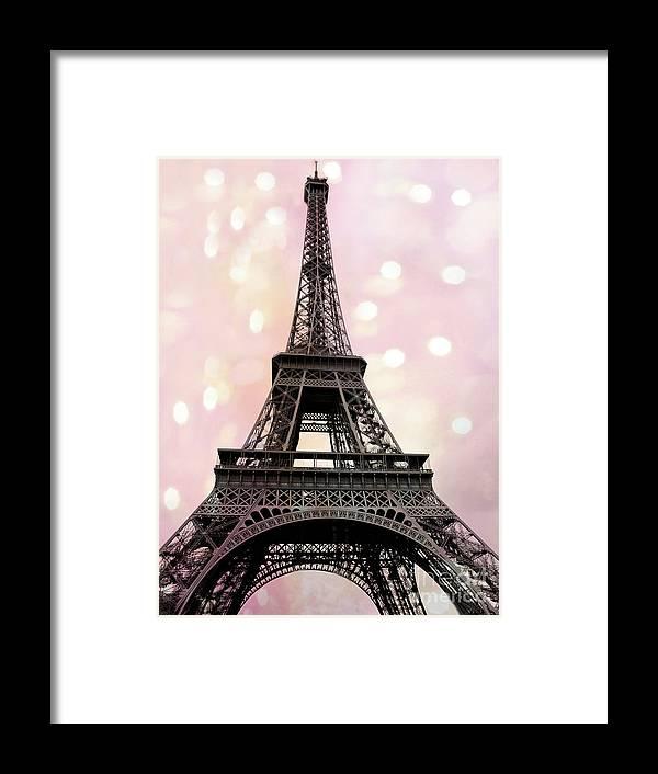 e0aedae804c Paris Framed Print featuring the photograph Paris Eiffel Tower Pink Fantasy  Baby Girl Nursery Decor Prints