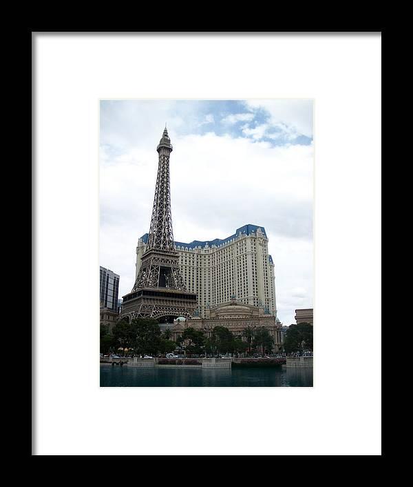 Bellagio Framed Print featuring the photograph Paris Hotel by Anita Burgermeister