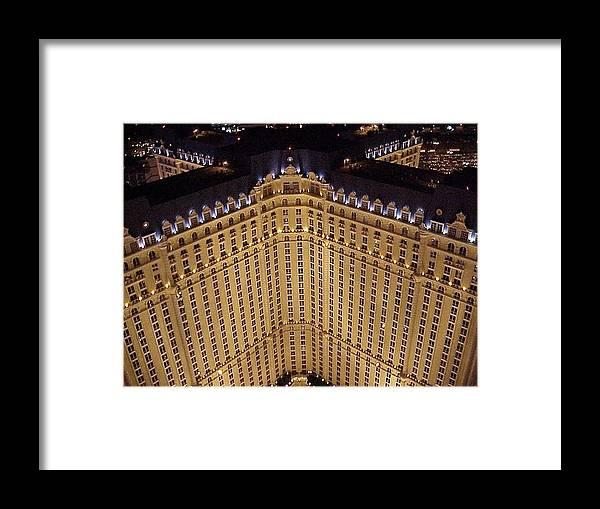 Paris Framed Print featuring the photograph Paris Lights-las Vegas by Roy Slezak