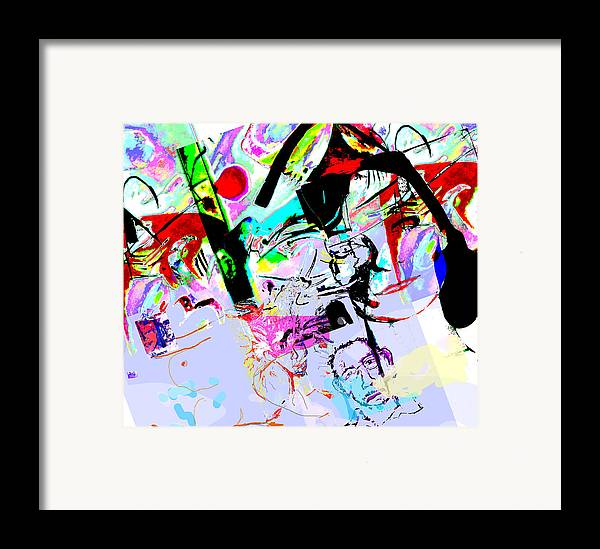 Abstract Framed Print featuring the mixed media Paris by Noredin Morgan