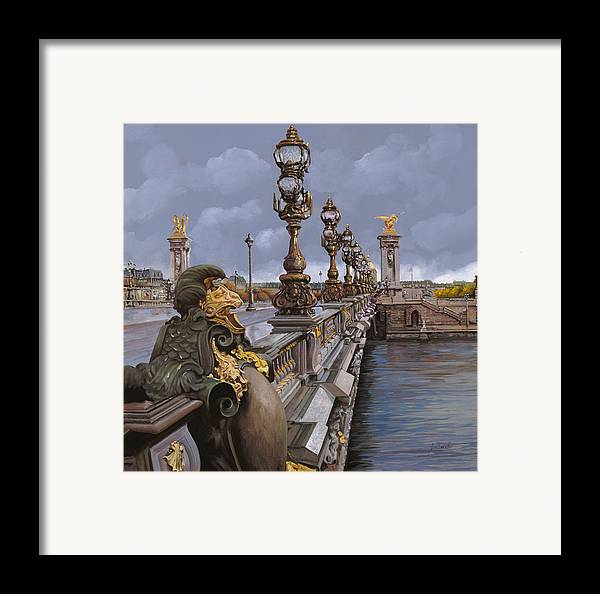 Paris Framed Print featuring the painting Paris-pont Alexandre IIi by Guido Borelli