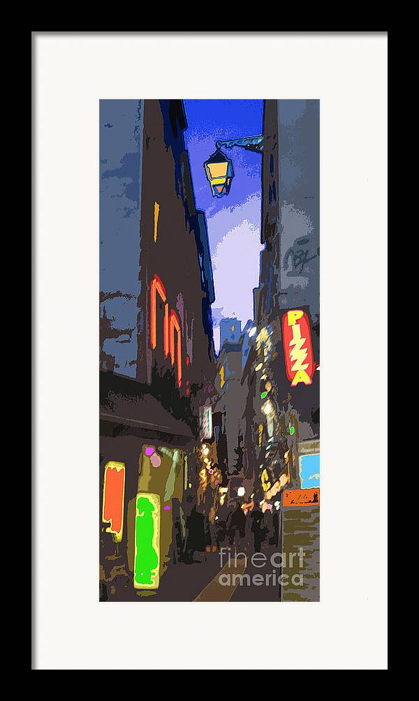Paris Framed Print featuring the photograph Paris Quartier Latin 01 by Yuriy Shevchuk