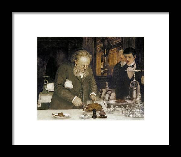 1890s Framed Print featuring the photograph Paris: Restaurant, C1890 by Granger