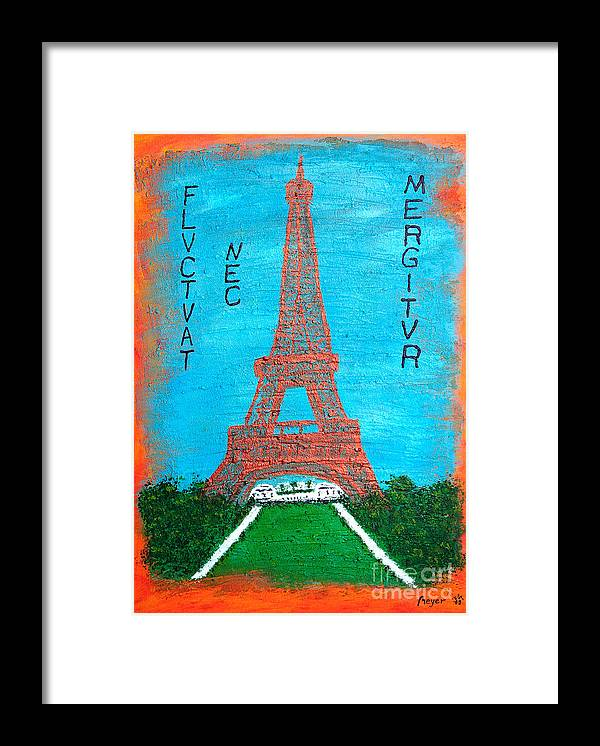Paris Framed Print featuring the painting Paris by Sascha Meyer
