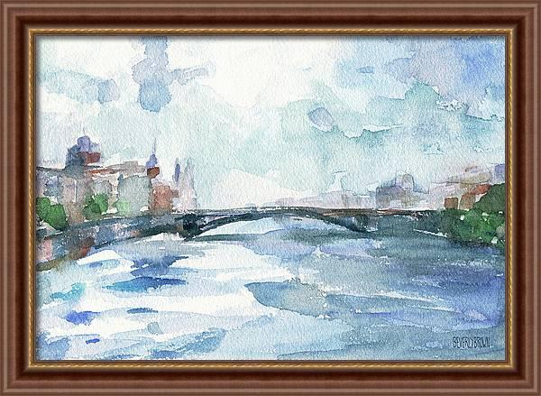 Paris Seine Shades of Blue by Beverly Brown