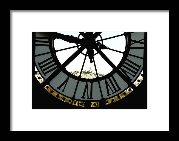 Clock Framed Print featuring the photograph Paris Through The Clock by Charles Ridgway