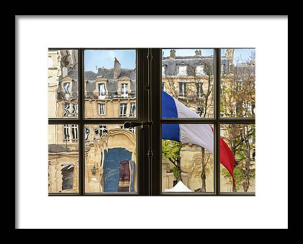 Museum Framed Print featuring the photograph Paris Through Windows 2 by Aaron Jean