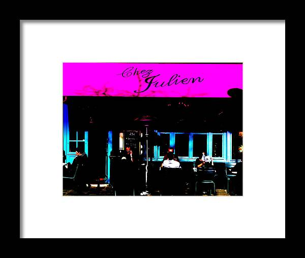 Paris Framed Print featuring the photograph Parisian Bistrot by Funkpix Photo Hunter