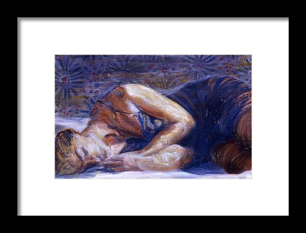 Figurative Framed Print featuring the painting Parisian Peace by LB Zaftig