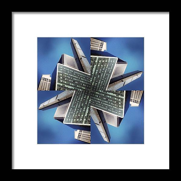 Framed Print featuring the photograph Park Ave Compositions by Franck Hodelin