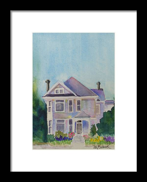 Victorian Framed Print featuring the painting Park Blvd Victorian by Ally Benbrook