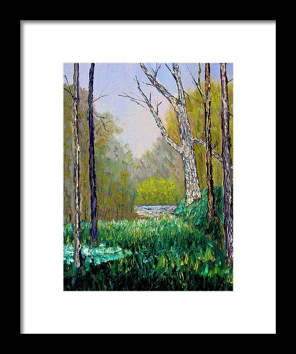 Trees Framed Print featuring the painting Park Meadow by Stan Hamilton