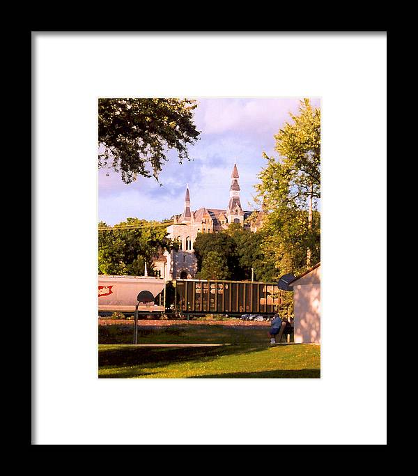 Landscape Framed Print featuring the photograph Park University by Steve Karol