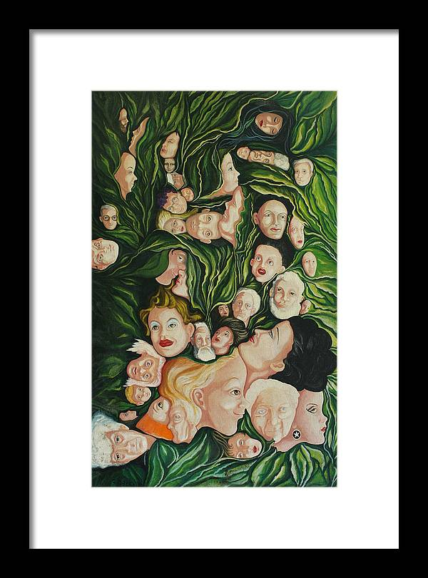 Figurative Framed Print featuring the painting Parkdale by Georgette Backs