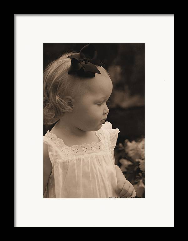 Framed Print featuring the photograph Parker by Lisa Johnston