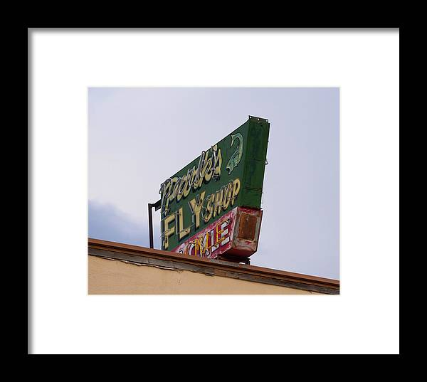 Park's Fly Shop Framed Print featuring the photograph Park's Fly Shop by Teresa Otto