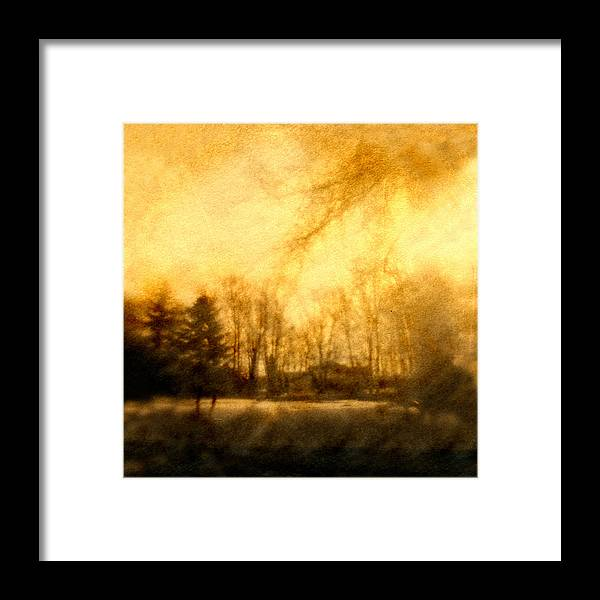Amber Light Framed Print featuring the photograph Parkview Ave by Diana Ludwig