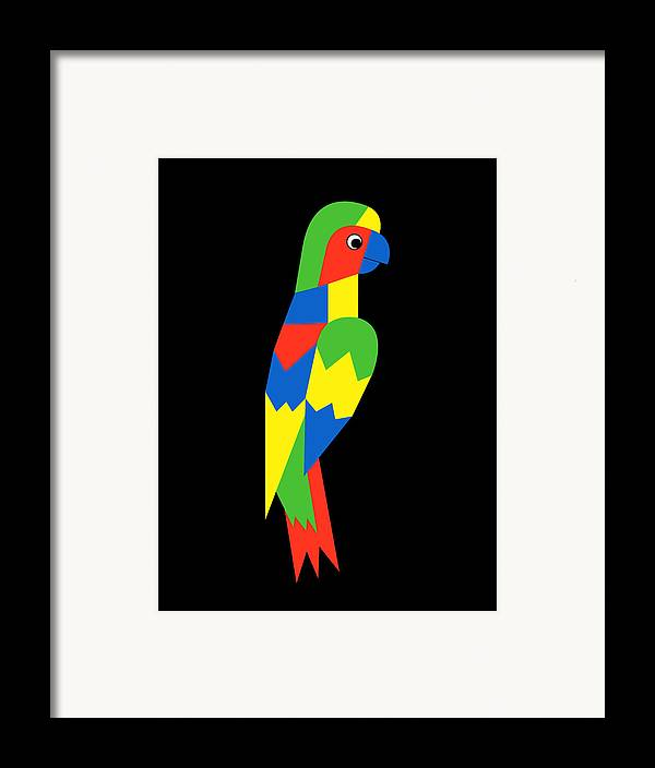 Parrot Framed Print featuring the digital art Parrot by Asbjorn Lonvig