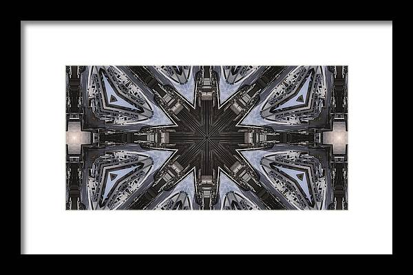 Mandelbulb Framed Print featuring the digital art Particle Accelerator by Ricky Jarnagin