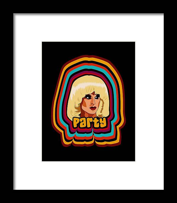 Drag Framed Print featuring the digital art Party by Dalek Popok