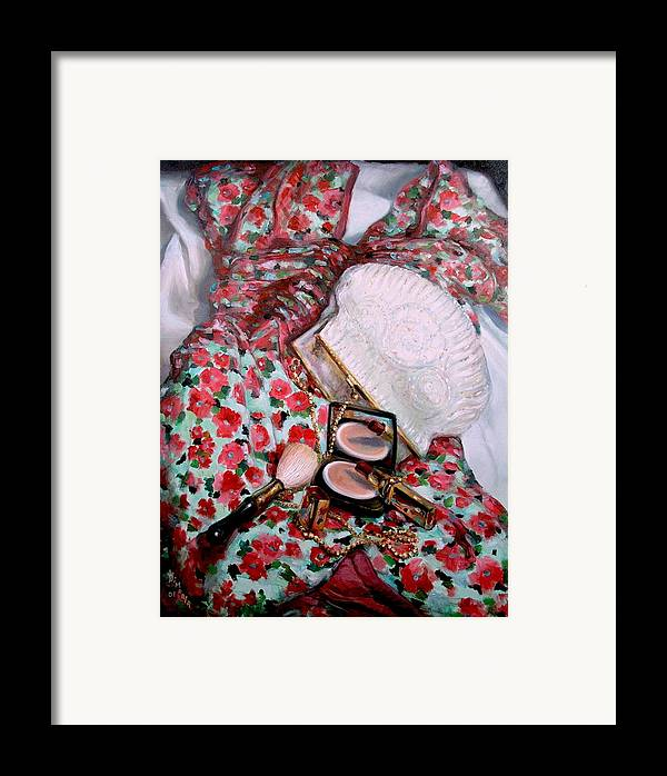 Realism Framed Print featuring the painting Party Dress by Donelli DiMaria