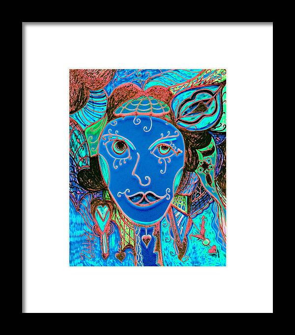 Party Girl Framed Print featuring the painting Party Girl by Natalie Holland
