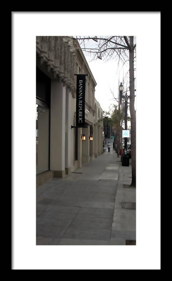 Cityscape Framed Print featuring the photograph Pasadena Sidewalk 1093 by Edward Ruth
