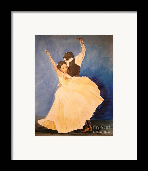 Spain Framed Print featuring the painting Pasion Gitana by Lizzy Forrester